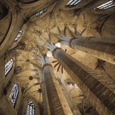 Columnes de l'absis de l'església de Santa Maria del Mar.  (Nano Cañas)