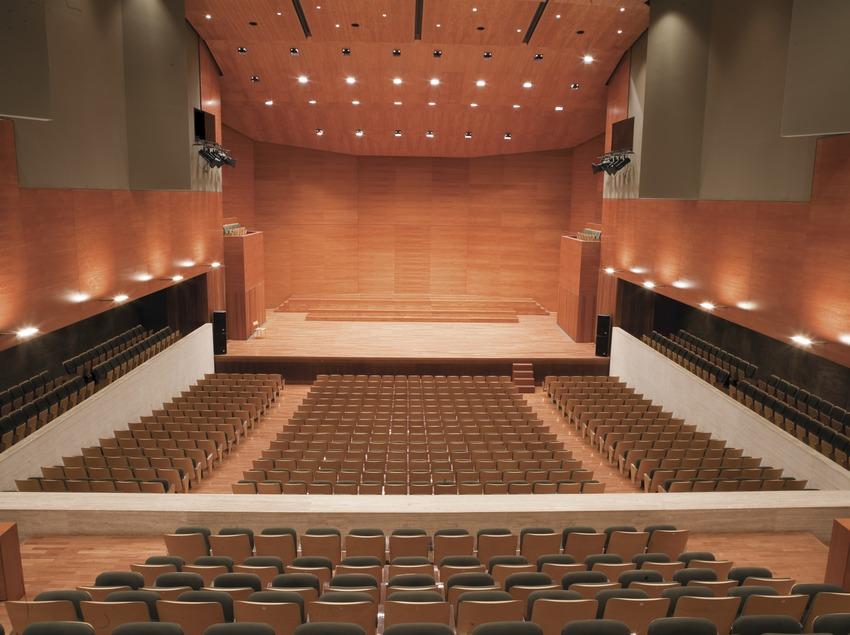 Interior del auditorio Enric Granados