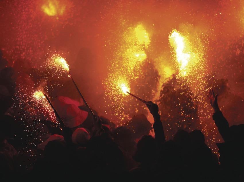 Flame in the Berga Patum