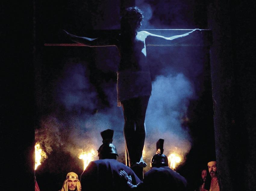 Representació de la Crucifixió de Jesús el Dijous Sant.  (Oriol Llauradó)