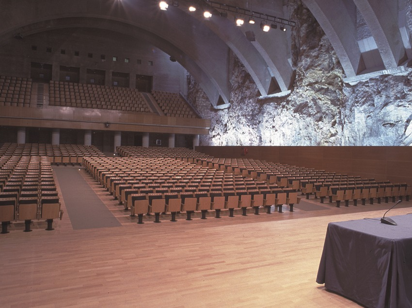 "Innenansicht des ""Palau Firal i Congressos de Tarragona"" (Messe- und Kongresspalast) (Palau Firal i Congressos de Tarragona)"