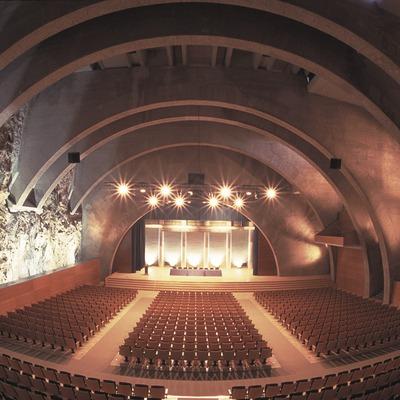 Intérieur du Palau Firal i Congressos (palais des expositions et des congrès) de Tarragone