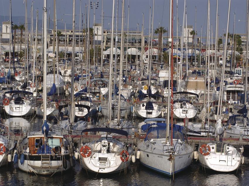 Embarcacions amarrades al Port Olímpic de Barcelona  (Marc Ripol)