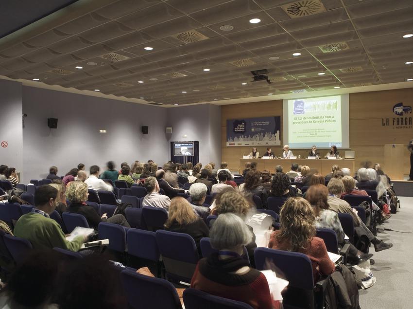 Sala de conferencias del recinto de La Farga.  (Oriol Llauradó)
