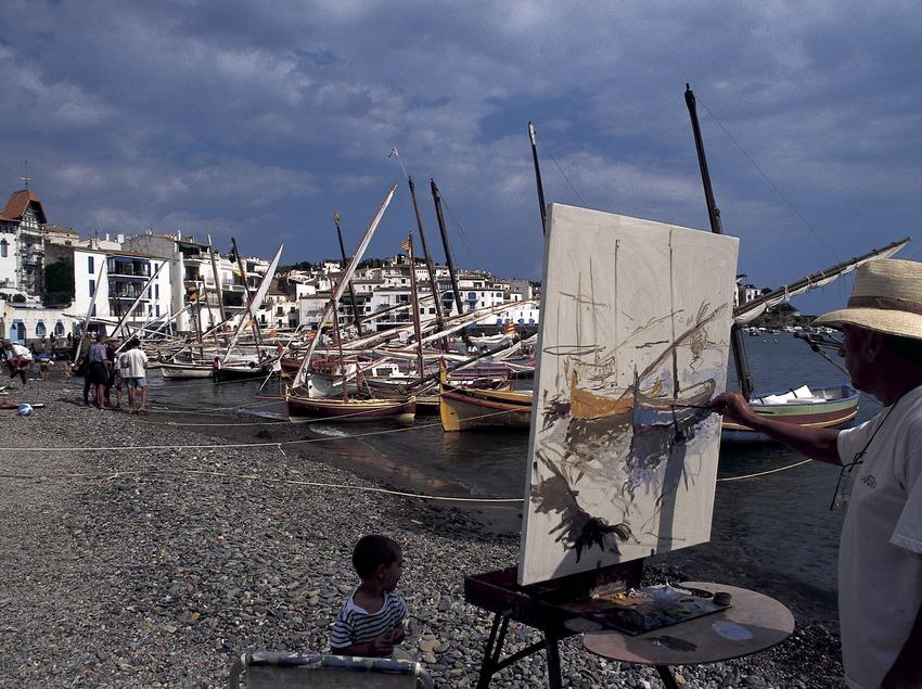 Pintor a la platja de Cadaqués  (Marc Ripol)