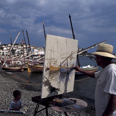 Pintor en la playa de Cadaqués  (Marc Ripol)