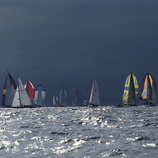 Sailing boats taking part in a regatta