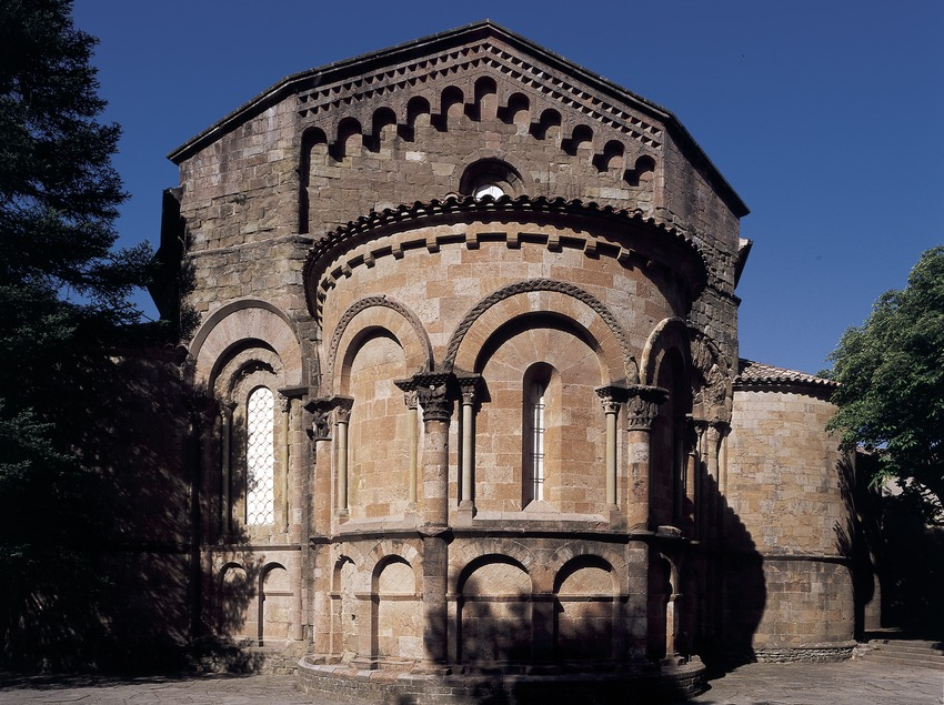 Apse of the church in Sant Joan de les Abedesses monastery