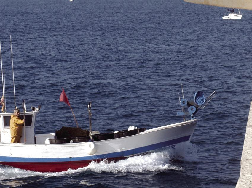 Embarcation de pêche entrant au port de Palamós  (Marc Ripol)