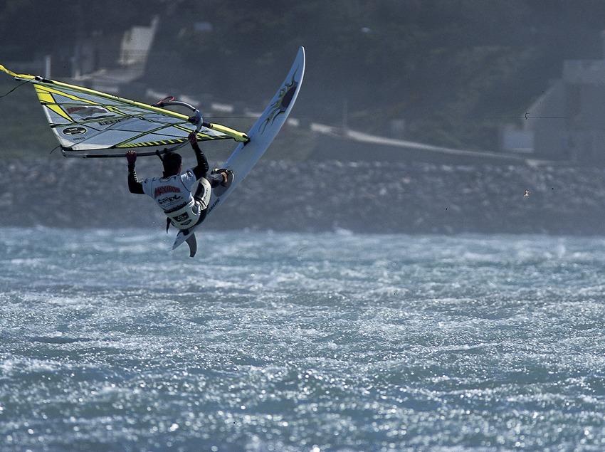 Windsurfing.