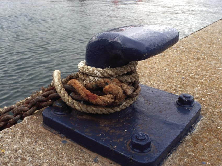 Un noray en el puerto deportivo de Llafranc  (Marc Ripol)