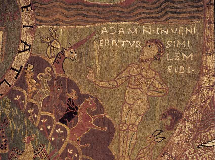 Detail of the Tapestry of Creation (11th century). Girona Cathedral treasure.  (Imagen M.A.S.)