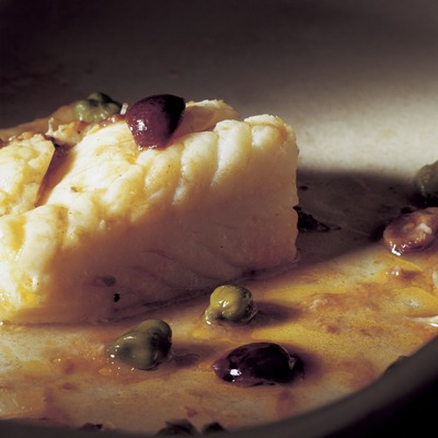 Cod with olives