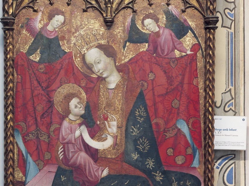 Panel of Virgin with child (15th century) Diocesan Museum of Urgell.  (Imagen M.A.S.)