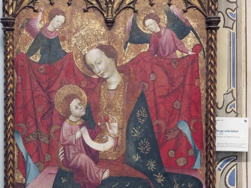 Tabla de Virgen con infante (siglo XV). Museo Diocesano de Urgell.  (Imagen M.A.S.)
