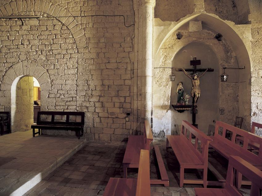 Central nave of the church in Sant Sebastià dels Gorgs monastery.  (Imagen M.A.S.)
