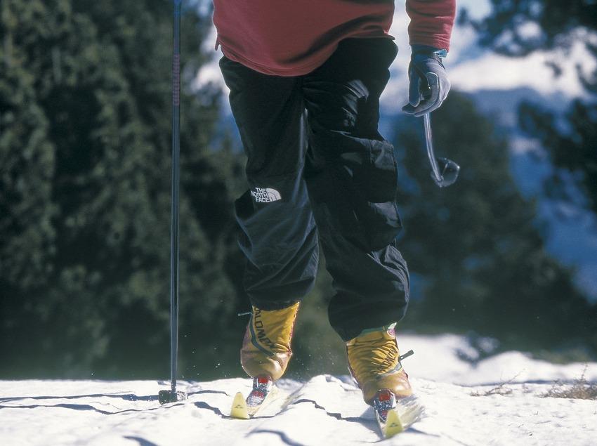 Esquí de fons a l'estació d'esquí de Sant Joan de l'Erm