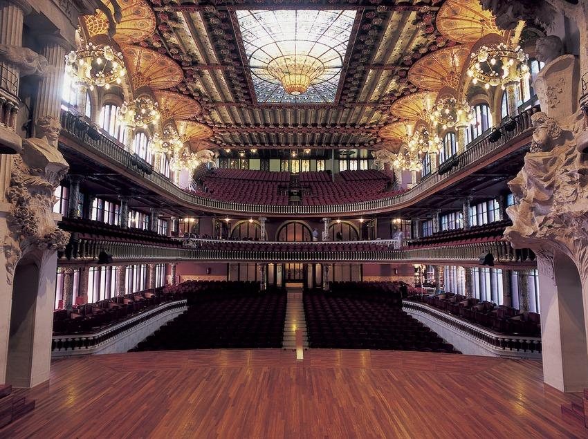 Platea del Palau de la Música Catalana de Domènech i Montaner.