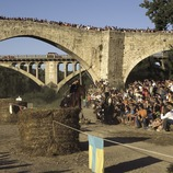 Horse race during the Medieval Fair (Oriol Llauradó)