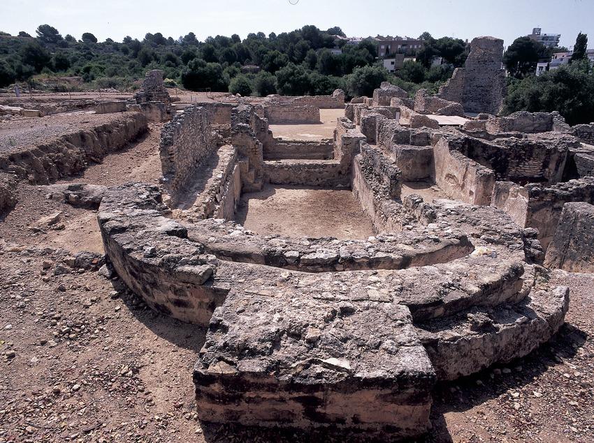 Conjunto termal de la villa romana de Els Munts.  (Imagen M.A.S.)