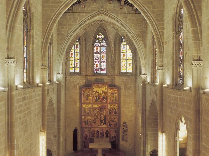 Interior de la Capella de Santa Àgata, al Palau Reial Major.  (Imagen M.A.S.)