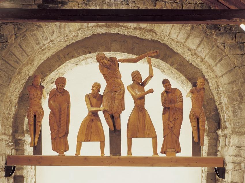 Davallament d'Erill la Vall (segle XII) de l'església de Santa Eulàlia d'Erill la Vall.  (Imagen M.A.S.)