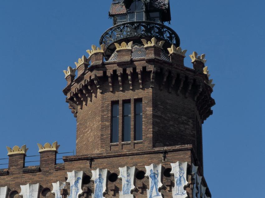 Torre del Castell dels Tres Dragons.  (Imagen M.A.S.)