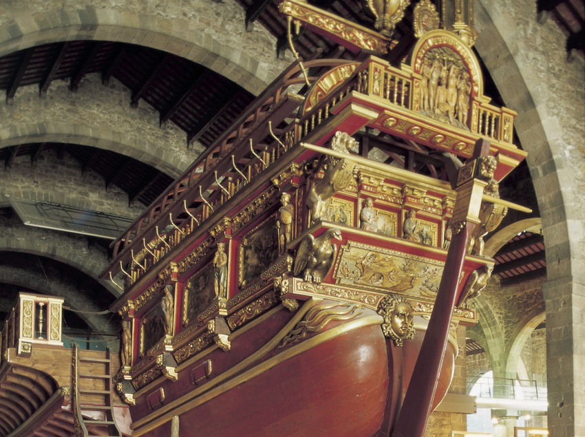 Royal galleon in the Barcelona Maritime Museum.  (Imagen M.A.S.)