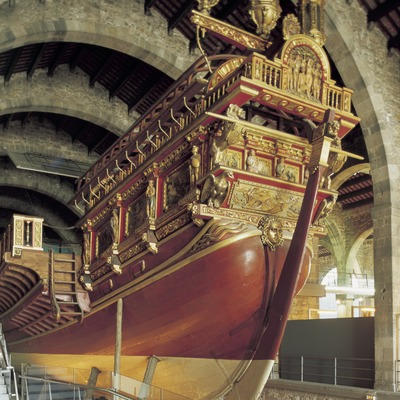 Galera real en el Museo Marítimo de Barcelona.  (Imagen M.A.S.)