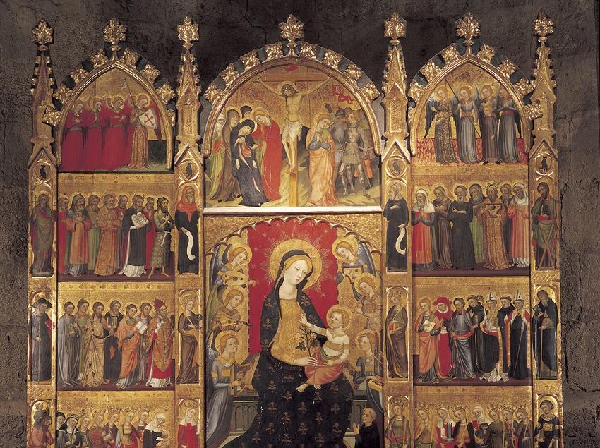 Retablo de Santa Maria de Tots els Sants (1400). Pere Serra. Monasterio de Sant Cugat d'Octavià  (Imagen M.A.S.)