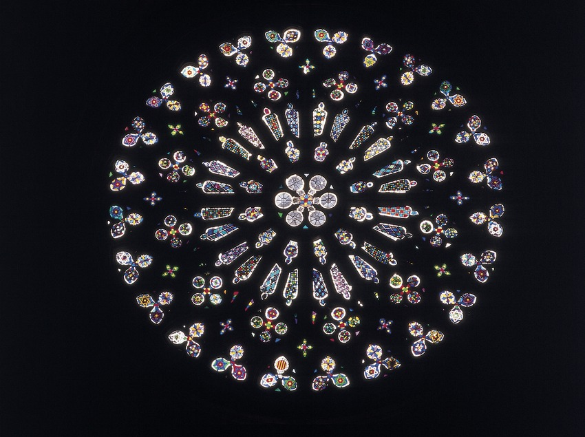 Rose window in the church of Sant Cugat d'Octavià monastery  (Imagen M.A.S.)