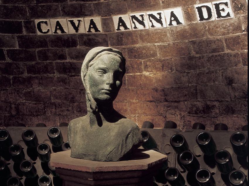 Bust of Anna de Codorniu. Codorniu cellars