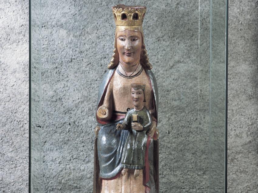 Mare de Déu de l'església de Sant Climent de Taüll.  (Imagen M.A.S.)