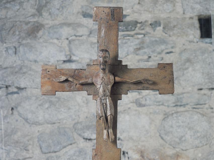 Crucifix de l'església de Sant Climent de Taüll.  (Imagen M.A.S.)