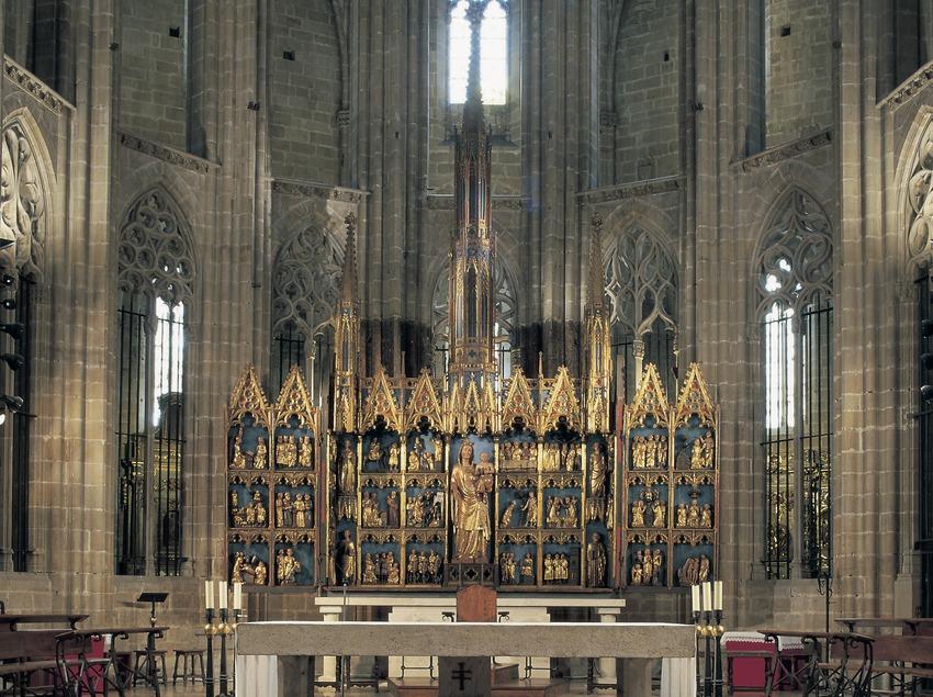 Retablo mayor de la Virgen (siglo XIV). Catedral de Santa Maria.  (Imagen M.A.S.)