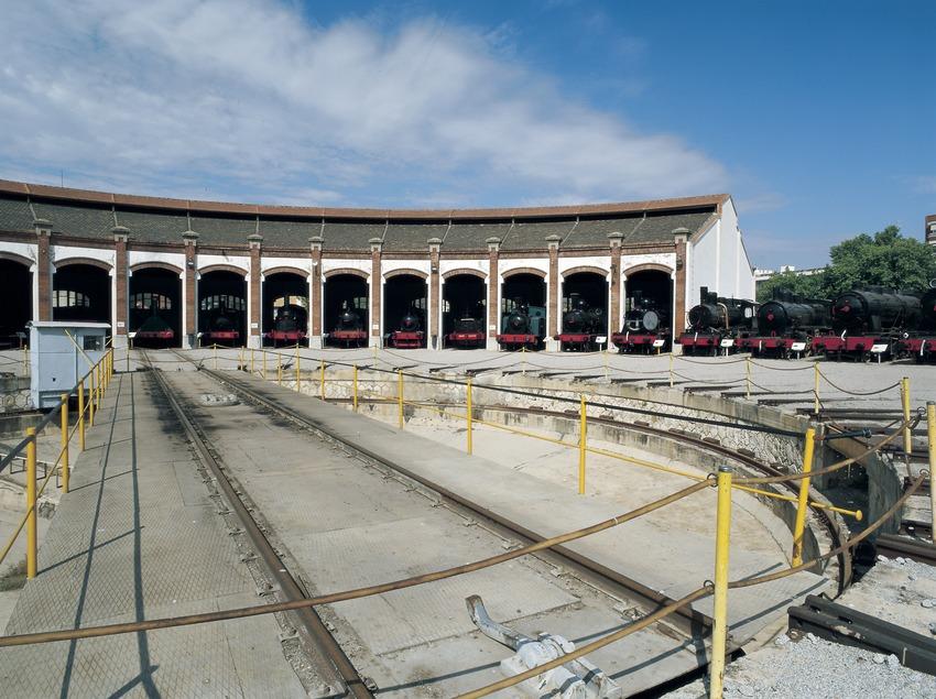 Colección de locomotoras. Museo del Ferrocarril  (Imagen M.A.S.)