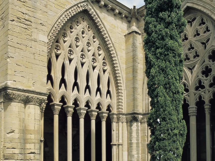 Patio del claustro de La Seu Vella.  (Imagen M.A.S.)
