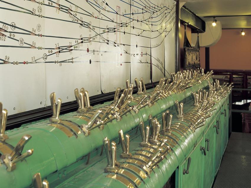 Controles para el cambio de vías. Museo del Ferrocarril  (Imagen M.A.S.)