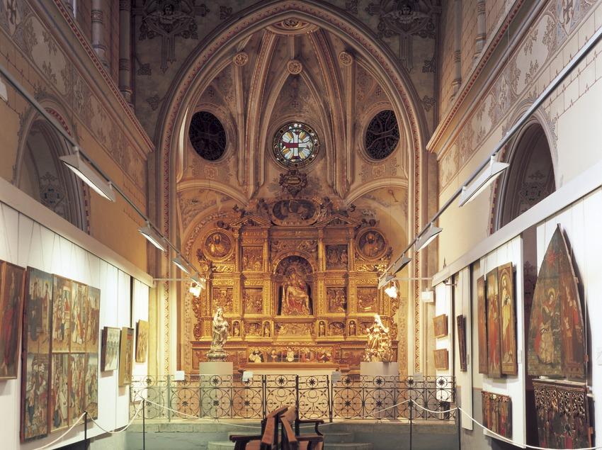 Retablo de la Piedad (siglo XIV). Jeroni Xanxo. Museo Diocesano de Urgell.  (Imagen M.A.S.)