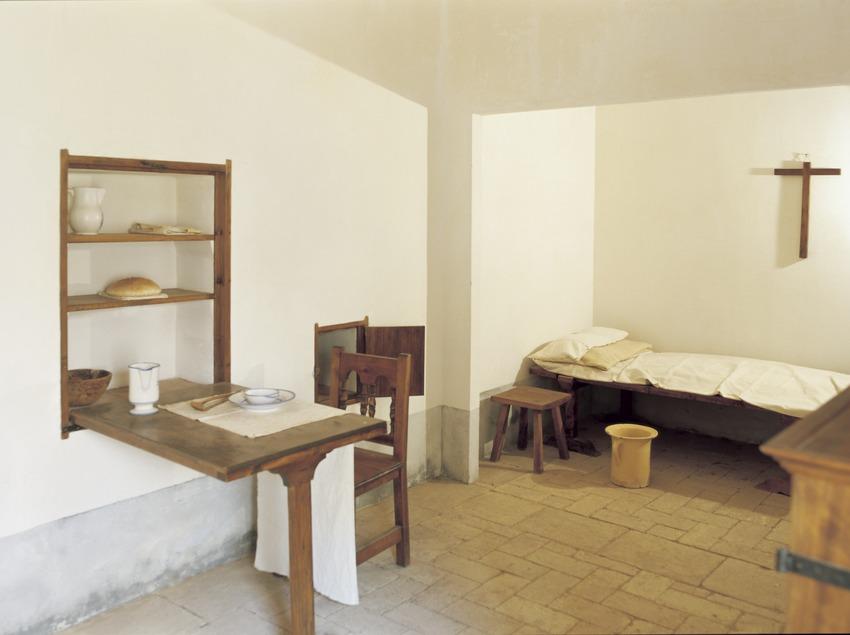 Recreación de una celda monacal de la Cartuja de Scala Dei  (Imagen M.A.S.)
