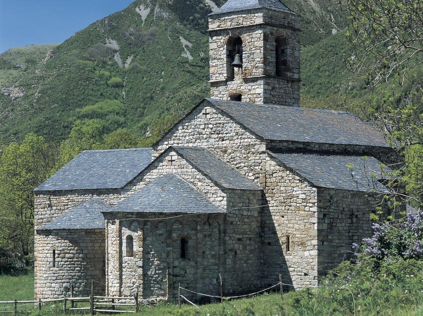 Die Kirche Sant Feliu de Barruera.