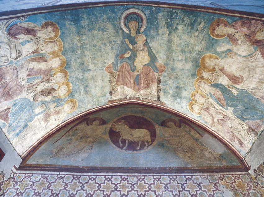 Frescos de la capilla de Sant Tomàs (siglo XII). La Seu Vella.  (Imagen M.A.S.)