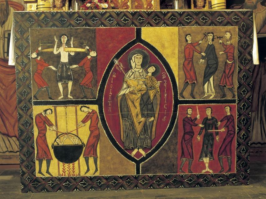 Frontal de l'església de Sant Quirc de Durro (segle XII).  (Imagen M.A.S.)