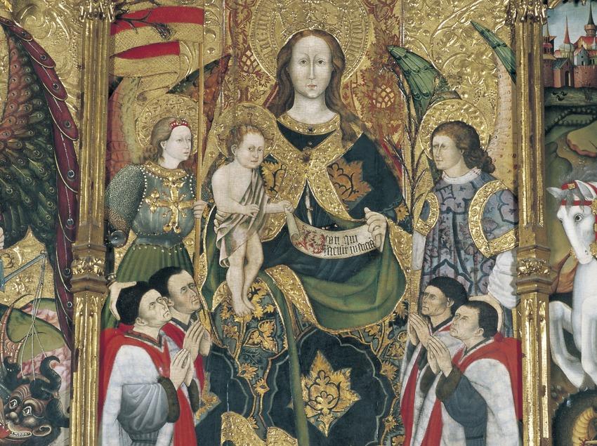 Tabla central del retablo de la Mare de Déu (siglo XV). Jaume Ferrer II. La Paeria (ayuntamiento de Lleida)  (Imagen M.A.S.)