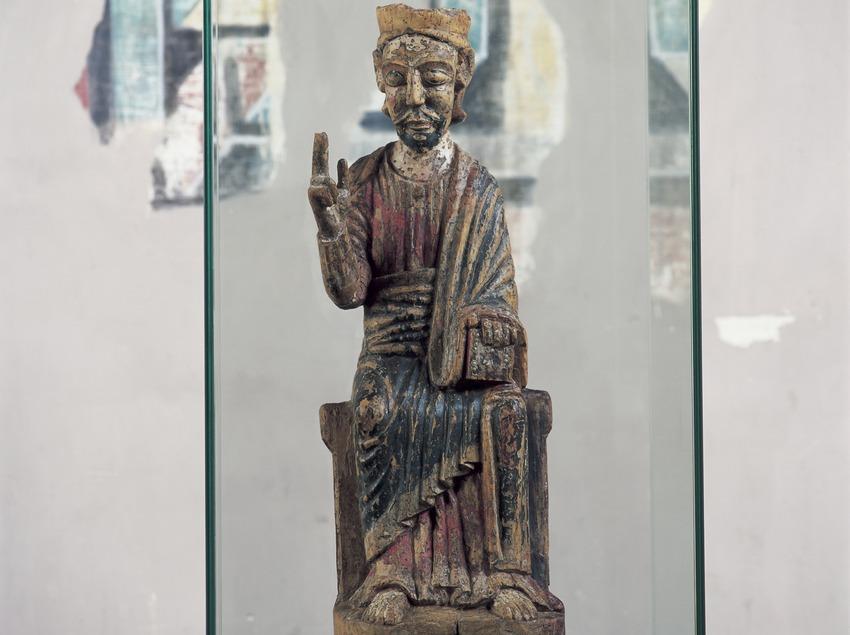Mare de Déu de la iglesia de Sant Climent de Taüll.  (Imagen M.A.S.)