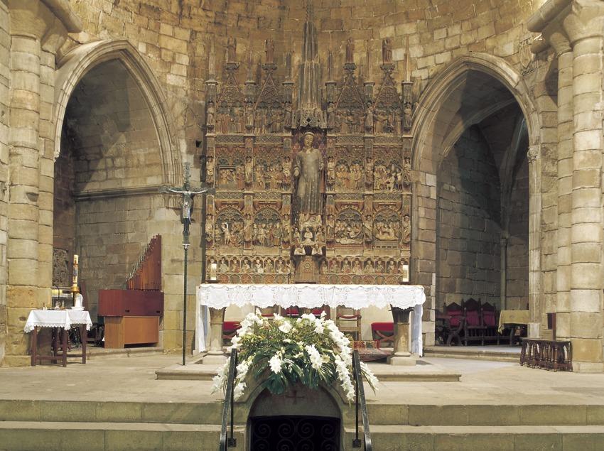 Altar mayor de la iglesia de Sant Llorenç.  (Imagen M.A.S.)