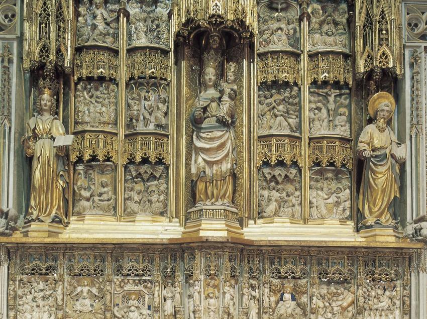 Altar major (segle XIV). Pere Joan. Catedral de Santa Maria.  (Imagen M.A.S.)