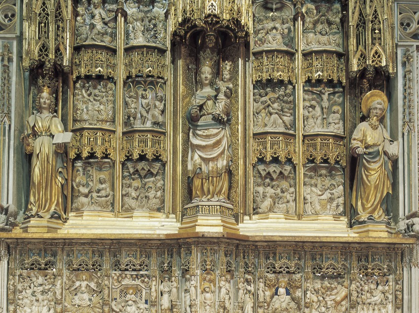 Altar mayor (siglo XIV). Pere Joan. Catedral de Santa Maria.  (Imagen M.A.S.)