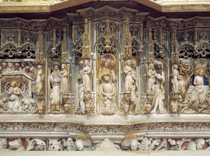 Detalle del altar mayor (siglo XIV). Pere Joan. Catedral de Santa Maria.  (Imagen M.A.S.)