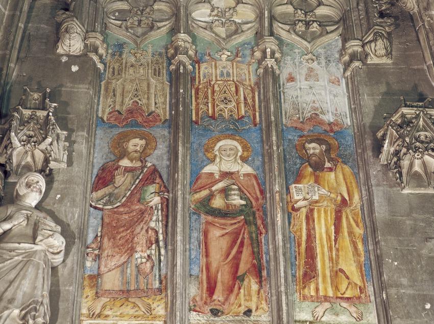 Vitrales de la capilla de Santa Maria dels Sastres (siglo XIV). Catedral de Santa Maria.  (Imagen M.A.S.)